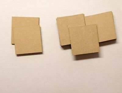 Square Bases 3 Mm thick Laser Cut Mdf 60x60 Mm Wargames bolt action