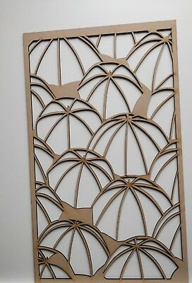 wooden wall decora. Cabinet Decorative Screening laser cut 3mm & 6mm thick MDF