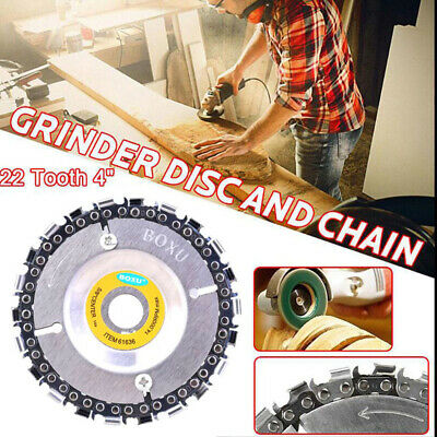 4 Inch Angle Grinding Chain Saw Plate Woodworking 16MM Grinder Disc 22 Tooth