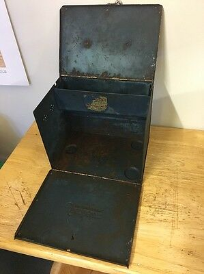Vintage Metal Box Carrying Case Sunbeam Electric Iron