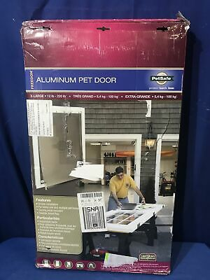 PetSafe XL Freedom Aluminum Pet Dog Door for Dogs to 220 lbs 13-3/4 x 23-3/4 in