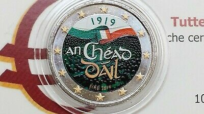 2 euro 2019 IRLANDA cor couleur farbe color EIRE Irlande Ireland Irland Dail