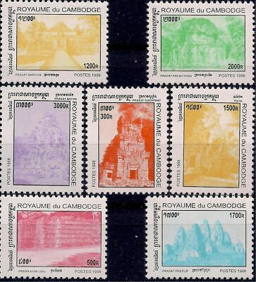 Cambodia 1998 Historic Towns/Temples Ruins Architecture Building History 7v MNH