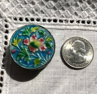Superb Antique Chinese Canton Enamel Trinket Snuff Pill Box 20Th C Cloisonne