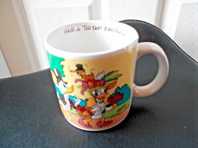 Walt Disney Applause Mug Cup Daffy Daisy Duck Have A Tip Top Easter