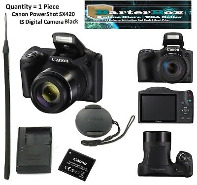 Father's Day Deal Sale Canon PowerShot SX420 IS Digital Camera (Black) 1068C001
