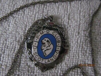 Pyrenean mountain dog club of Scotland enamel medal