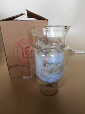 NEW IN BOX Reaction Flask, Lab Glass LG8014-102, Jacketed, 1000 ml