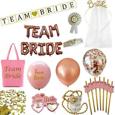 Pink & Gold - Team Bride Hen Party Night Do Bride To Be Sashes Accessories Lot