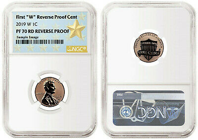 "Presale! 2019 W First ""W"" Reverse PF Lincoln Cent E.R. NGC PF70 RD Reverse Proof"