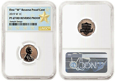 "Presale! 2019 W First ""W"" Reverse PF Lincoln Cent E.R. NGC PF69 RD Reverse Proof"