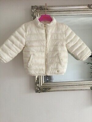 River Island White Puffa Jacket  Age 18:24 Months