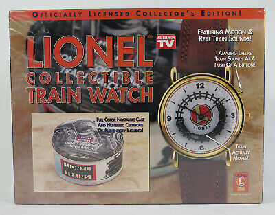 Lionel Collectable Train Watch Motion & Real Train Sounds Sealed Box