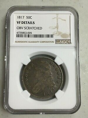 1817 Capped Bust Ngc Vf Details Silver Half Dollar