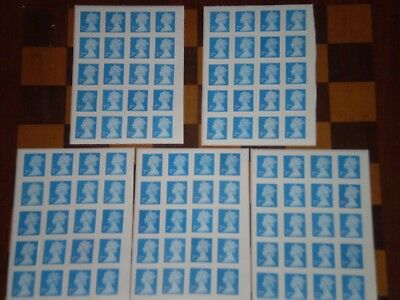 100 x Unfranked, Easy Peel 2nd Class Blue Stamps - £34.99 (Face Value £61)