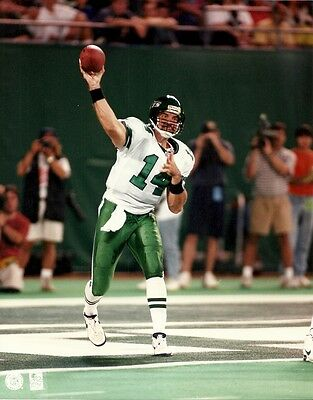 NEIL O'DONNELL 8x10 Awesome NFL Action Photo NEW YORK JETS #14 Vintage Football