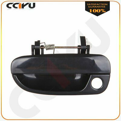 Front Left Outside Door Handle Smooth Black for 00-06 Hyundai Accent