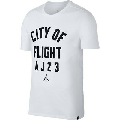 3f4f68ffa54 Jordan City Of Flight Aj23 White Graphic T Shirt Mens Xx-Large Nwt $35