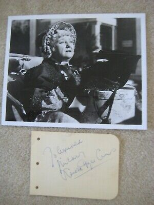 LAURA HOPE CREWS Gone with the Wind Aunt Pittypat Autographed Signed Album Page