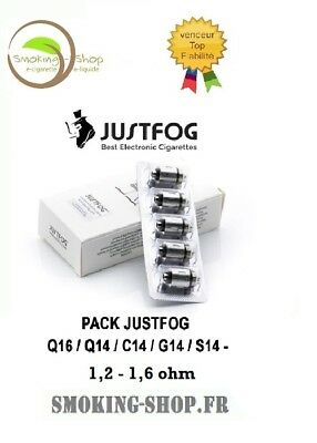 Résistances JUSTFOG Q16 - 1,6 ohm - pack de 5 - ORIGINAL