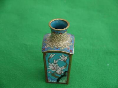 Superb Detailed Antique Japanese Chinese Gold Gilt & Cloisonne Miniature Vase
