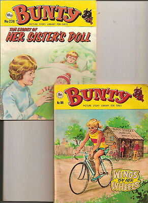 BUNTY PICTURE LIBRARY FOR GIRLS nos.186 & 236 PUBLISHER D.C.THOMSON 1978 & 1982