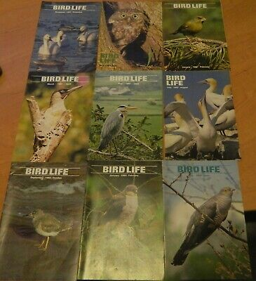 9 Issues Of Bird Life- The Magazine Of The Young Ornithologists Club 1981-1983.