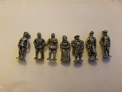 Seven Westair Metal Tudor Figures Inc Henry Viii