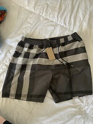 38746a1fc1 Burberry Men's Blue Nova Check Swim Trunks Shorts Swimwear Size XXL $295