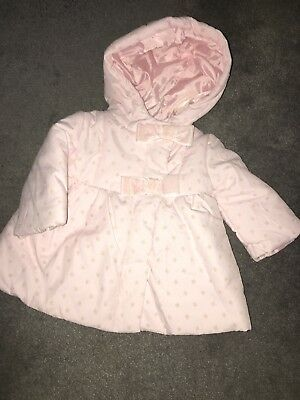 Lovely Pink Cynthia Rowley Girls Coat Size 3-6 New With Tags