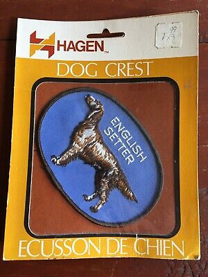 "Vtg Hagen Fox Terrier Sew On Embroidered 4"" Patch Badge Dog Breed Crest NOS NEW"