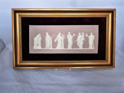 Wedgwood Pottery England Rare Lilac Jasper Ware Wall Plaque 'the Muses' Figures