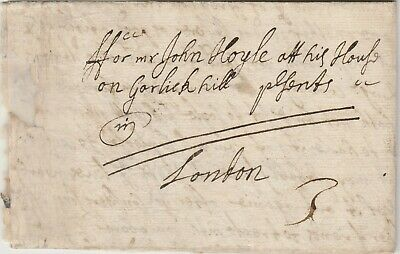 1681 Letter From Wm Denham to John Hoyle - Ferrybridge Yorkshire to London