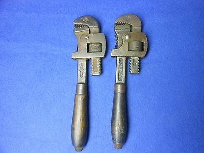 "Two #8 Popular Morco 7"" Moore Drop Forging Stillson Pipe Monkey Wrench"