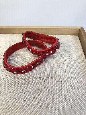RED Stretch Ballroom Latin Salsa Dance Jewelry Accessories bracelets Swarovski