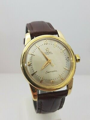 stunning gents vintage solid 18ct gold omega seamaster automatic bumper c1960s