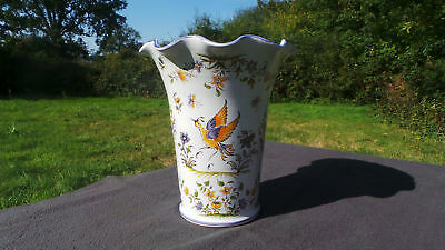 Moustiers Ceramic Vase Pottery Fully Marked Moustiers 'Berain' Decoration