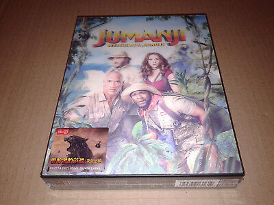Jumanji Welcome to the Jungle Blu-Ray Steelbook Lenticular FullSlip B HDZeta