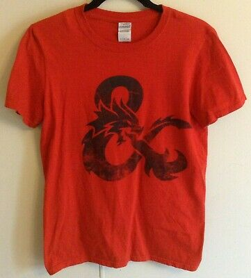 Men's Loot Crate Exclusive Red Dungeons & Dragons Graphic Short Sleeve T-Shirt S