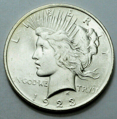 1923-P  Peace Dollar Superb Silver Old US Coin , NO RESERVE !!!..