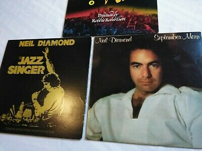 **NICE** Neil Diamond - 3 LP Record Lot (1960s - 1980s) Overall VG+ Condition