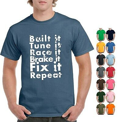 75900262a83c NEW BUILT IT and repeat T Shirt Car motorcycl Engine street race ...