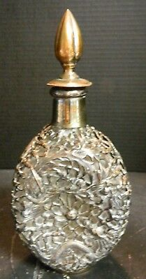 Vintage Haig And Haig Silver Overlay  Dragon & Bird Dimple Decanter Excellent