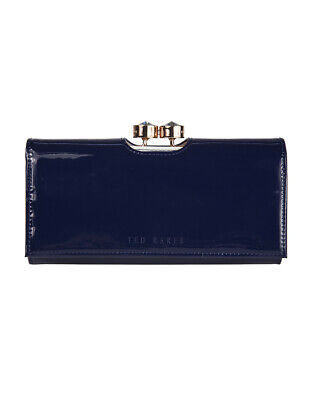 75294f732 Ted Baker Women s Merlow Patent Leather Crystal Bobble Matinee Purse - Dark  Blue