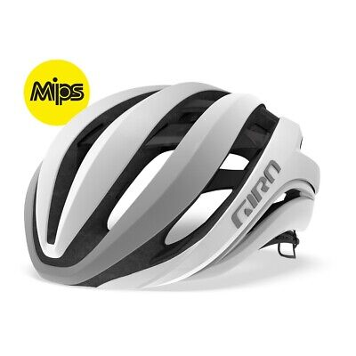 Giro Aether Mips Route Bicyclette Vélo Casque Blanc Mat / Argent - 3 Tailles