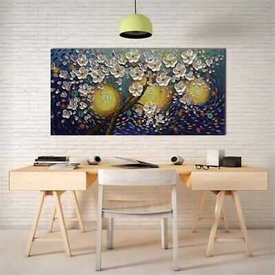 Large Flower Tree Modern Canvas Print Abstract Sun Wall Home Decor Oil Painting
