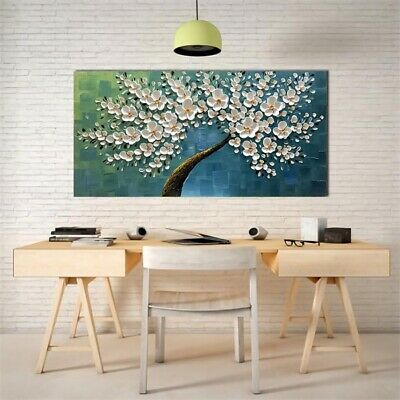 Large Flower Tree Modern Canvas Print Abstract Wall Home Art Decor Oil Painting