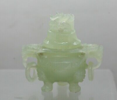 Beautiful Hand Crafted Chinese Decorative Censer Incense Burner Made Of Jade