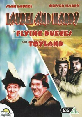 LAUREL & HARDY IN FLYING DUECES AND TOYLAND - Double Feature. - DVD  9OVG The