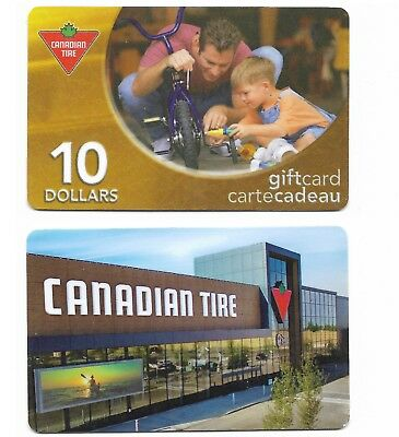 2 Collectible CANADIAN TIRE CanTire gift cards Canada #04
